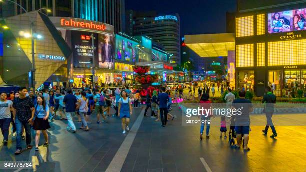 Night View of Bukit Bintang, Kuala Lumpur.
