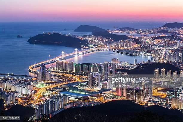 Night View Of Busan City