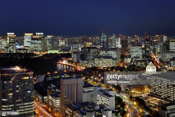 Night view of central Tokyo