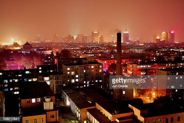 Night view of Changchun city