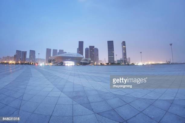 Night view of Dalian Donggang Business District