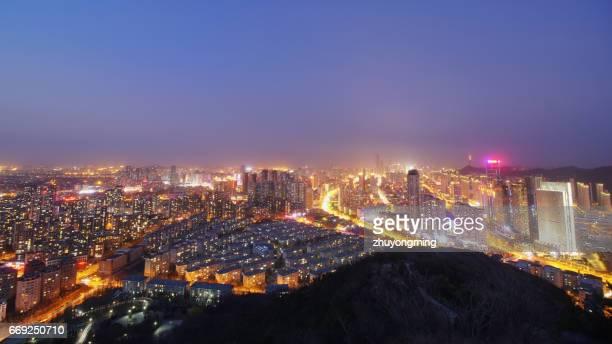 Night view of dalian