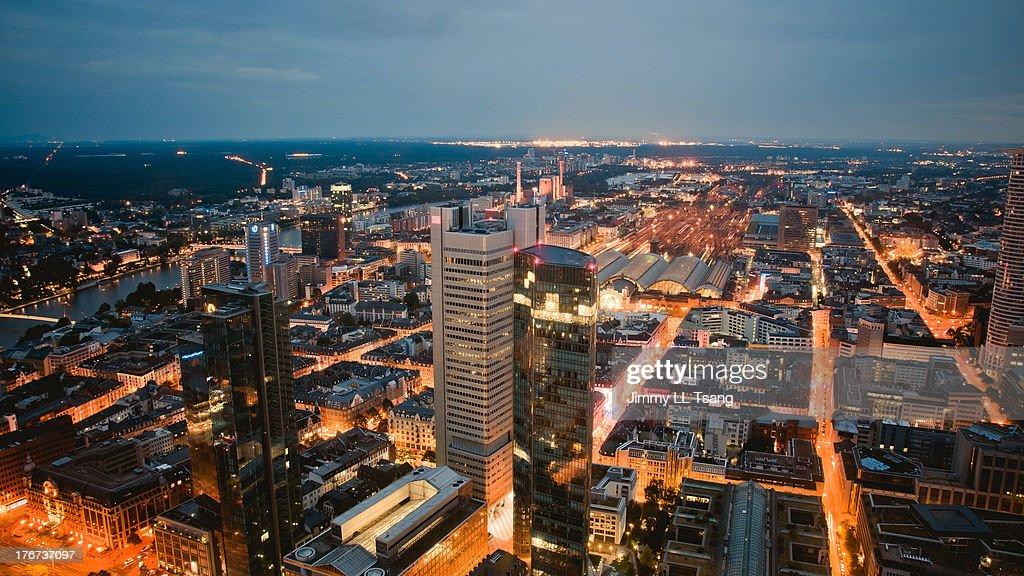 Night view of Frankfurt : Stock Photo