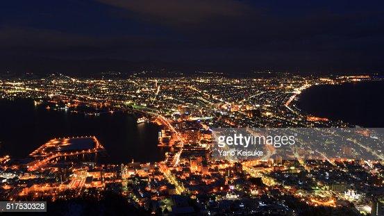 Night view of Hakodate, Hokkaido, Japan : Stock Photo