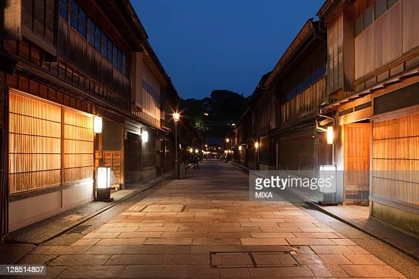 Night View of Higashi Chaya District, Kanazawa, Ishikawa, Japan