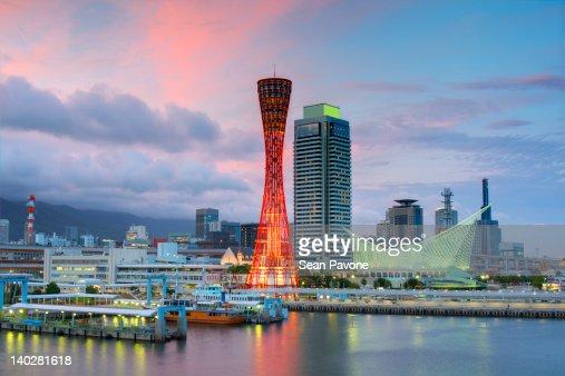 Night view of Kobe Port : Stock Photo
