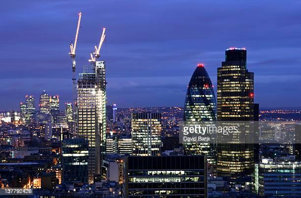 Night view of London Skyline