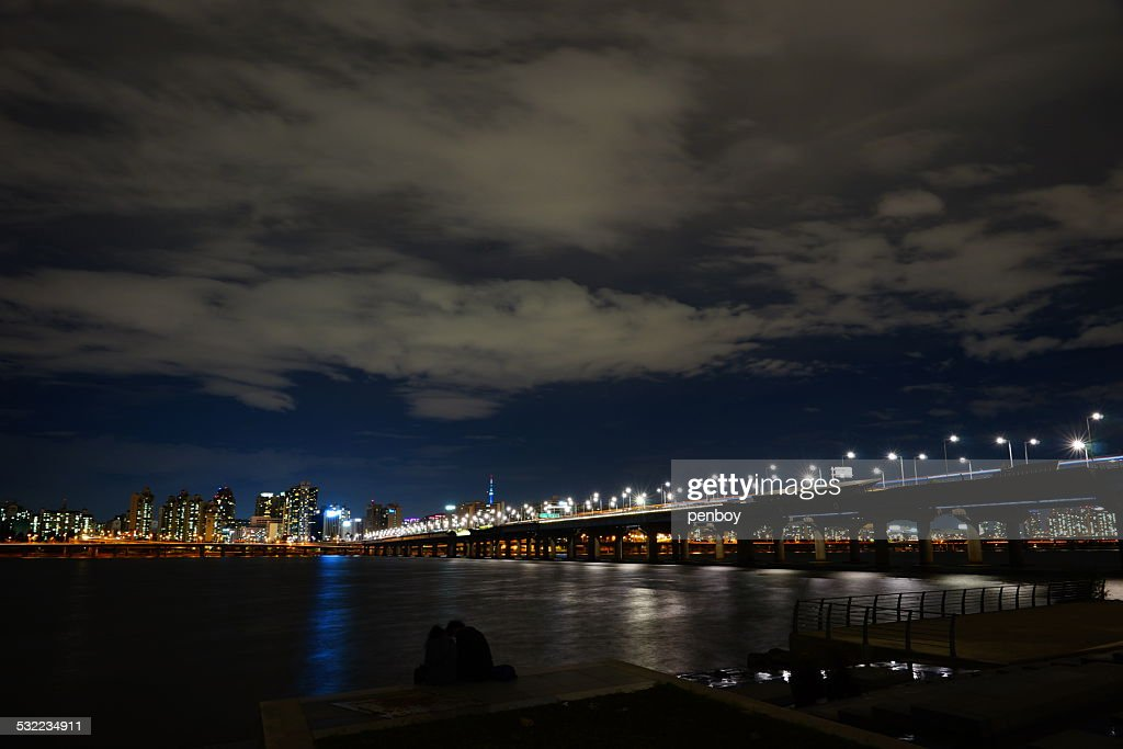 Night view of Mapo bridge