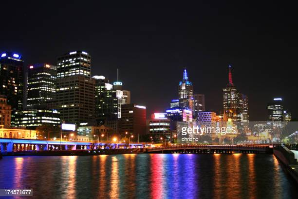 Night view of Melbourne city