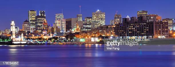Night view of Montreal Skyline