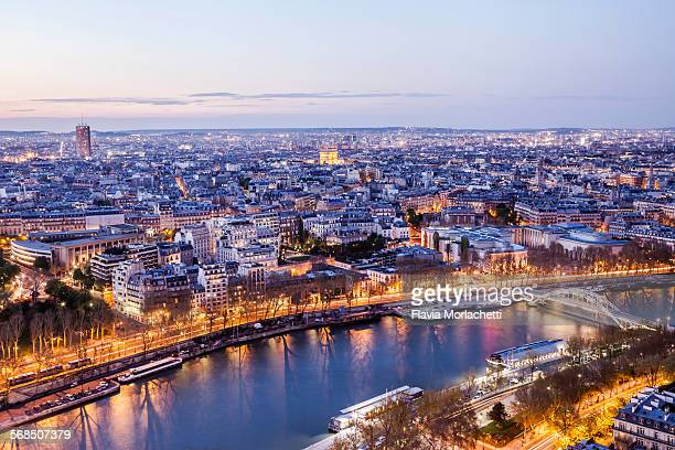 Night view of Paris, France