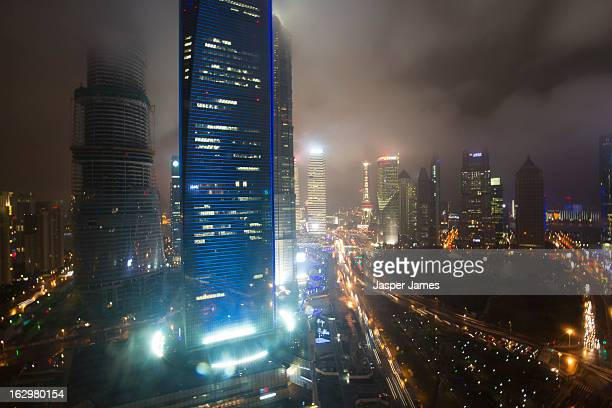 Night view of Pudong,Shanghai