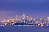 A Night view of San Francisco across the bay