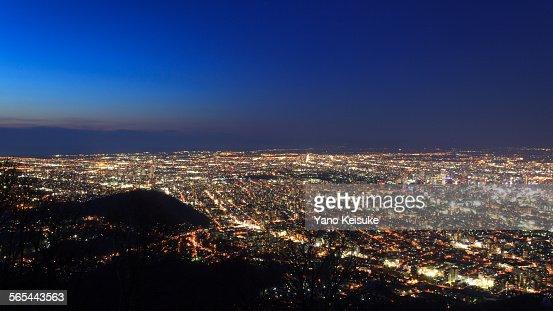 Night view of Sapporo : Stock Photo