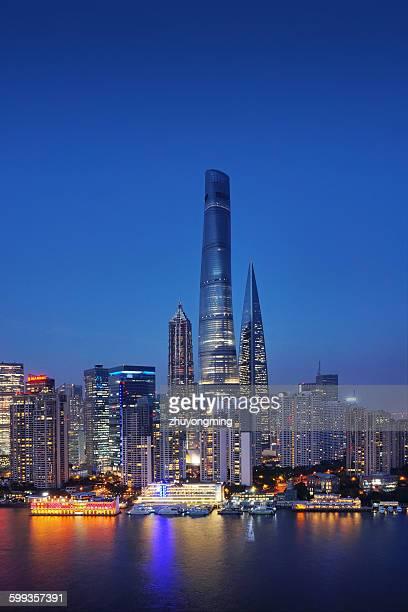 Night View Of Shanghai Lujiazui Skyscraper