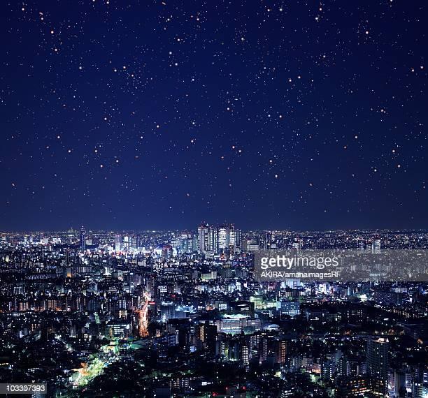 Night view of Shinjuku Complex, Tokyo, Japan.