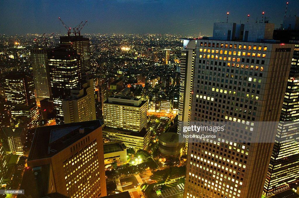 Night view of skyscrapers in Shinjuku : Stock Photo
