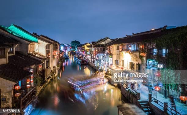 Night view of Suzhou, Shantangjie Street