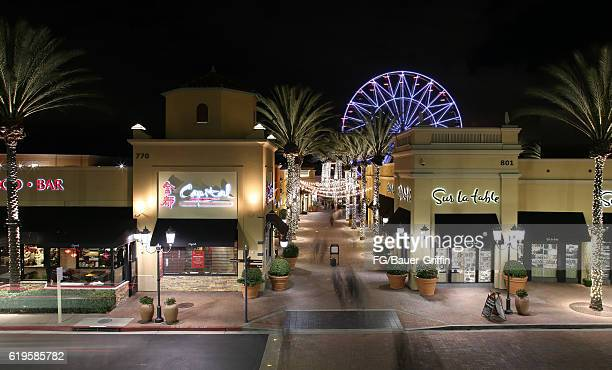 Night View of The Ferris Wheel at the Spectrum Mall in Irvine on October 31 2016 in Irvine California