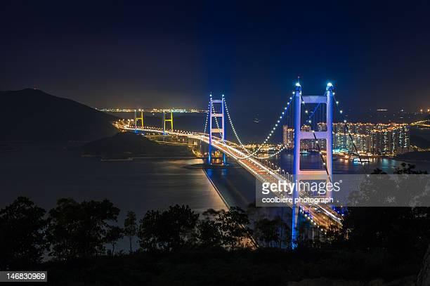Night view of Tsingma bridge