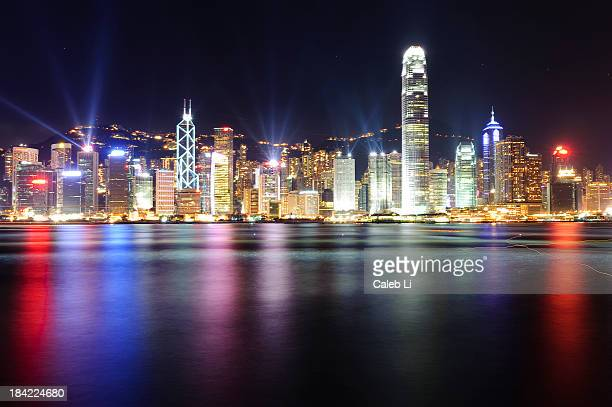 A night view of Victoria Harbour