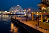 Night view of waterfront, Kobe, Hyogo Prefecture, Japan