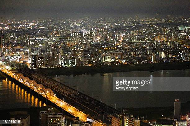 Night view of Yodo river
