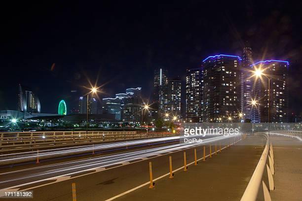 Night view of Yokohama Minatomirai