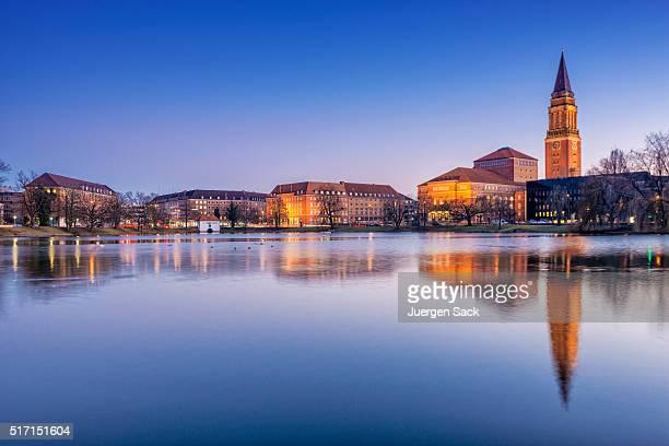 Blick bei Nacht auf Kiel, Schleswig-Holstein-Sonderburg-Augustenburg