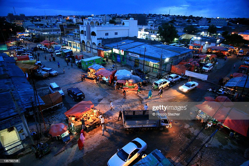 Night view seen from rooftop in Hargeisa