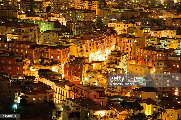 Night view the centre of Naples (Napoli)