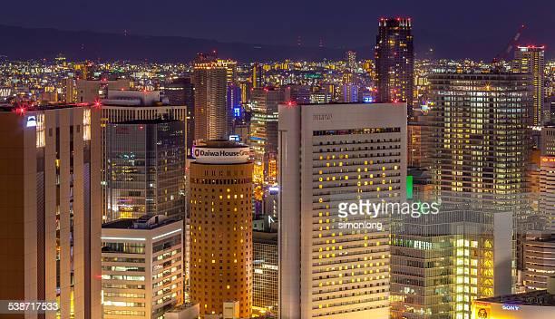 Night View urban jungle,Osaka, japan