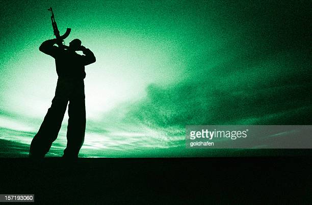 night vision | armed fighter