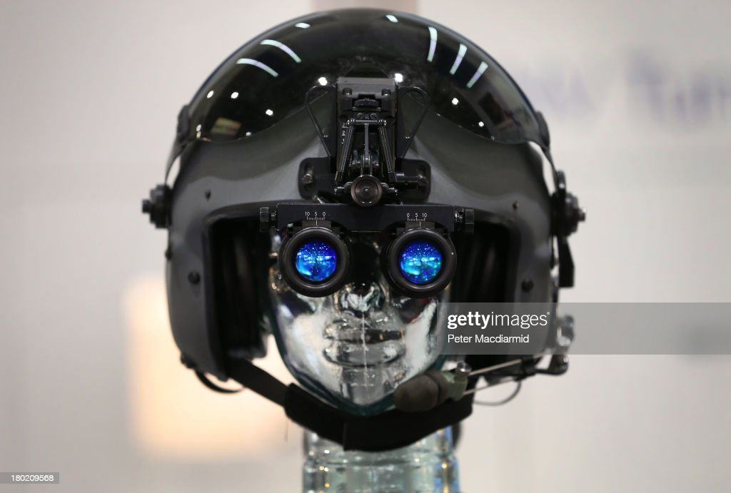 Night vision goggles are displayed at the Defence and Security Exhibition on September 10, 2013 in London, England. ExCeL London is hosting the exhibition with hundreds of manufacturers from all over the world displaying their hardware.