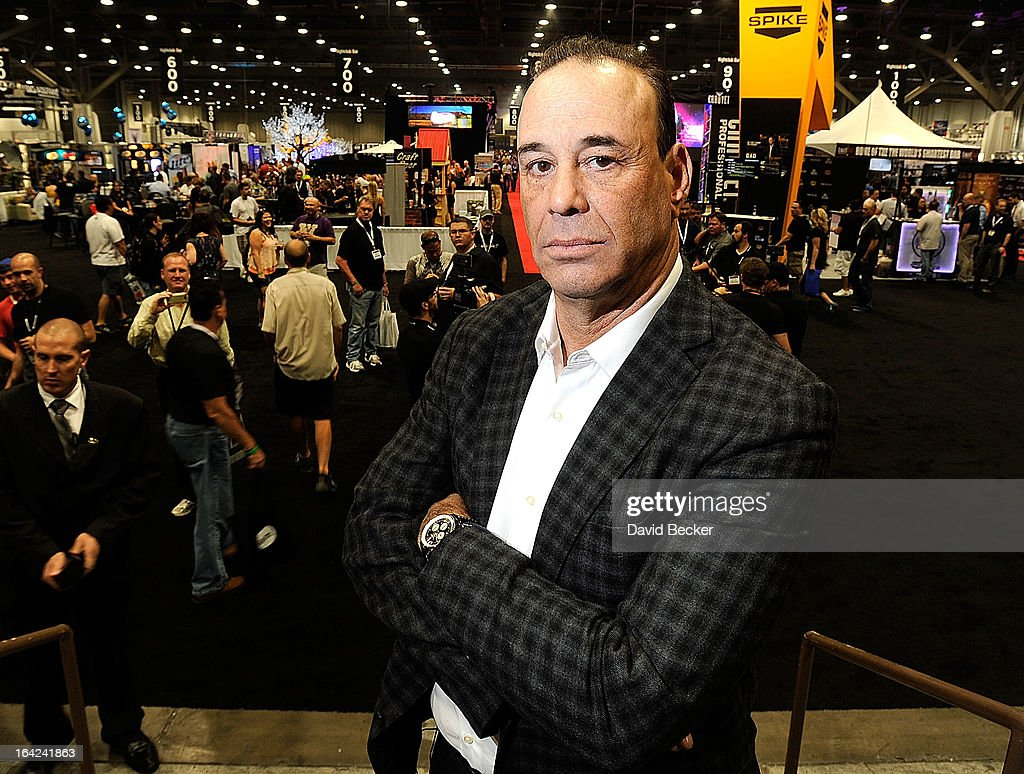 Nightclub & Bar Media Group President and host and Co-Executive Producer of the Spike television show 'Bar Rescue' <a gi-track='captionPersonalityLinkClicked' href=/galleries/search?phrase=Jon+Taffer&family=editorial&specificpeople=6833853 ng-click='$event.stopPropagation()'>Jon Taffer</a> poses during the 28th annual Nightclub & Bar Convention and Trade Show at the Las Vegas Convention Center on March 21, 2013 in Las Vegas, Nevada.