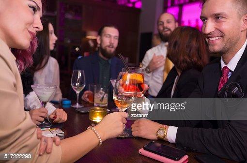 Nightclub toast