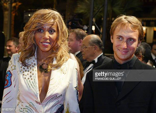 Nightclubs owners David and Cathy Guetta arrive at tha gala screening of the film 'Irreversible' by Argentinian director Gaspar Noe during the 55th...