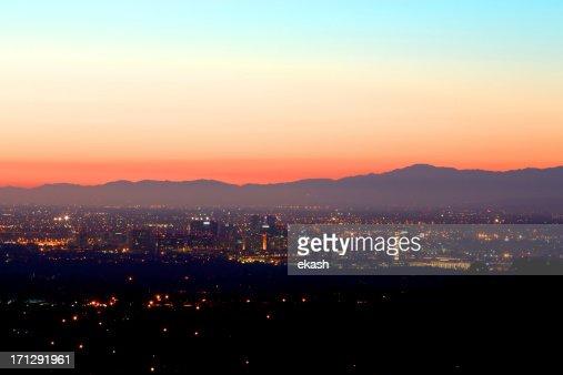 Nightfall in Irvine California
