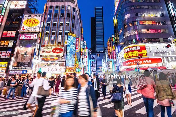 Nightlife in Shinjuku area, Tokyo, Japan