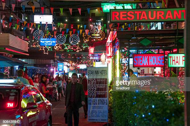 Nightlife In Sukhumvit Soi 7 In Bangkok, Thailand