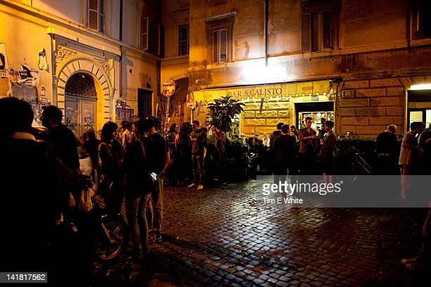 Nightlife in Trastevere, Rome, Italy