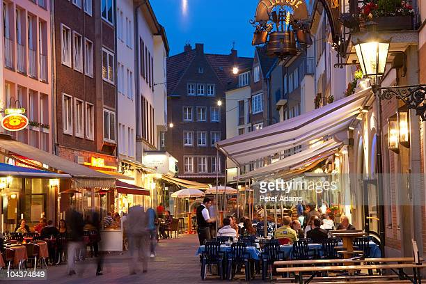 Nightlife, Old Town, Dusseldorf, Germany