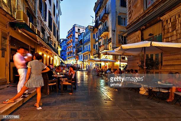 Nightlife on the street, Corfu town