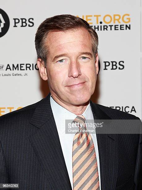 'NBC Nightly News' anchor Brian Williams attends the 'Faces of America' premiere at Allen Room at Lincoln Center on February 1 2010 in New York City