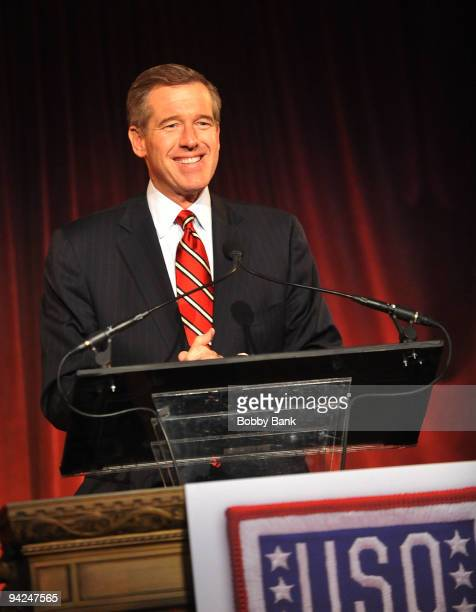Nightly News anchor Brian Williams hosts the USO 48th annual Armed Forces Gala Gold Medal dinner at Cipriani 42nd Street on December 9 2009 in New...