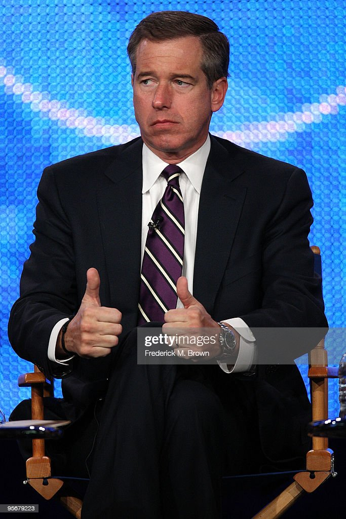 Nightly News anchor Brian Williams speaks onstage at the NBC Universal 'NBC News' Q&A portion of the 2010 Winter TCA Tour day 2 at the Langham Hotel on January 10, 2010 in Pasadena, California.