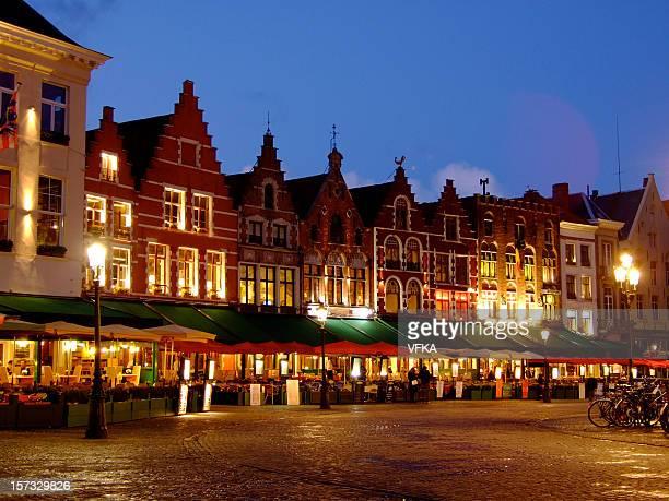 Nightscene à Bruges, Belgique