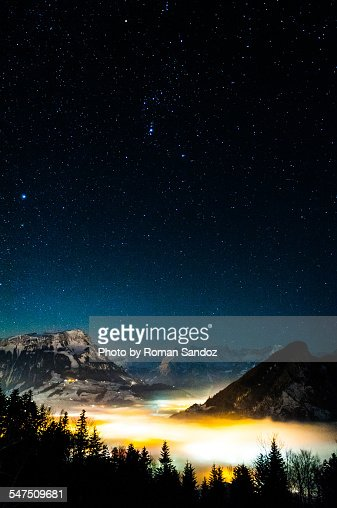 Nightsky over the Alps