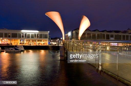 Nighttime At Bristol's Millennium Bridge