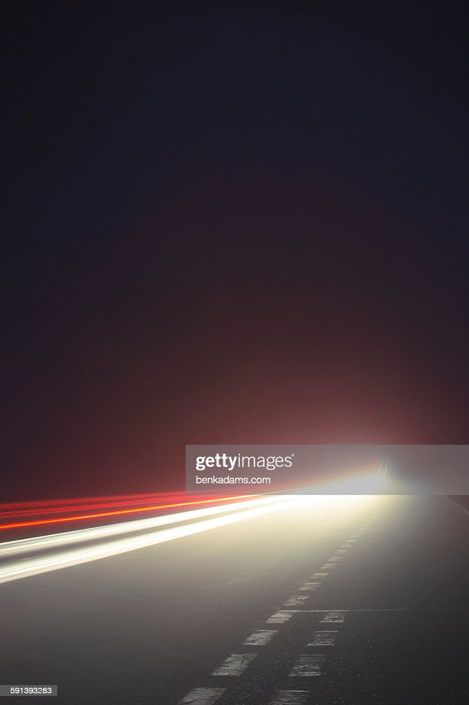 Nighttime Driving : Stock Photo